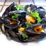 Moules en rougail antillaise
