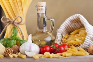 céréales, légumes et huile d'olive
