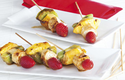 brochette fruits et Beaufort