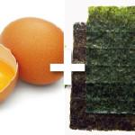 Omelette d'algues à la japonaise