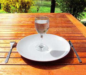 assiette vide jeûne