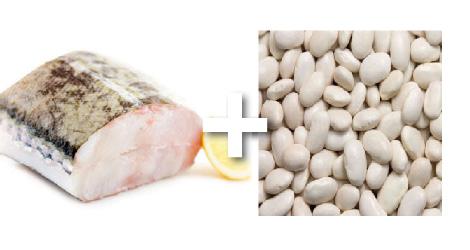 Effeuillé de cabillaud aux haricots blancs