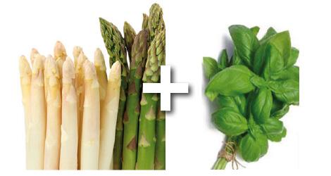 Salade à l'asperge croquante et aux fines herbes