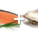saumon huitres