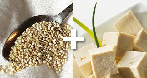 Croquettes de quinoa au tofu et aubergine